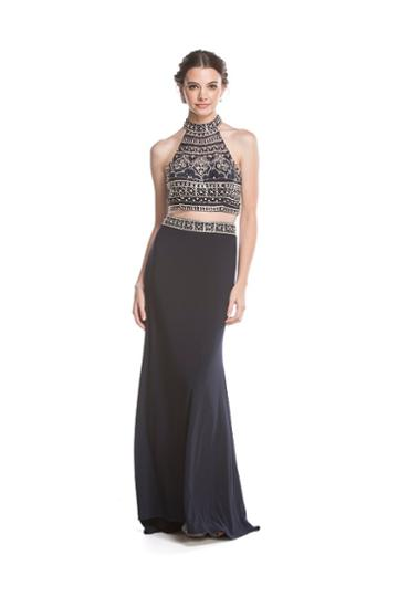 Aspeed - L1595 Two Piece Beaded High Halter Evening Gown