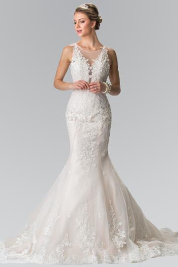 Elizabeth K - Gl2369 Lace Illusion Scoop Mermaid Bridal Gown