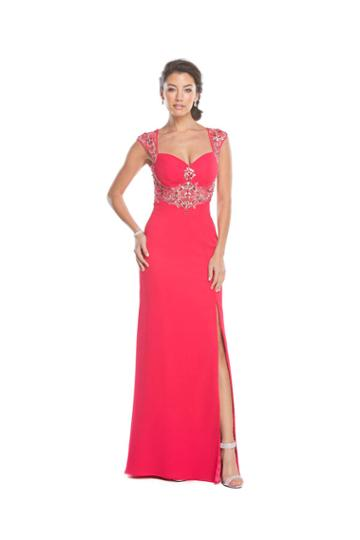 Aspeed - L1615 Sheer Embellished Evening Gown With Slit