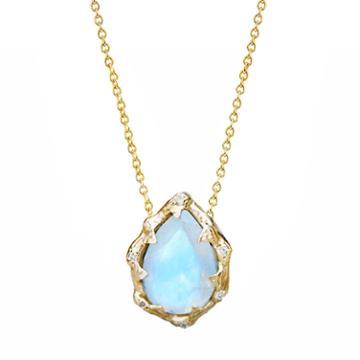 Logan Hollowell - New! Queen Water Drop Moonstone Necklace