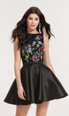 Alyce Paris Homecoming - 3748 Embroidered Bateau Neck A-line Dress