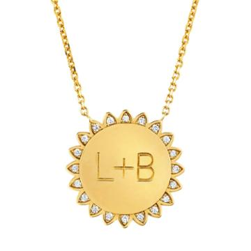 Logan Hollowell - New! Custom You Are My Sunshine Medium Necklace With Diamonds