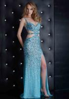 Jasz Couture - 4109c Dress In Sky Blue