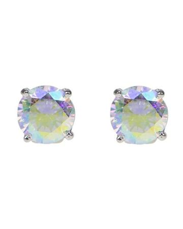 Cz By Kenneth Jay Lane - Rainbow Cz Luxe Round Stud