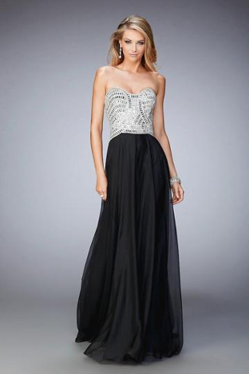 La Femme - 22137 Bejeweled Sweetheart A-line Dress