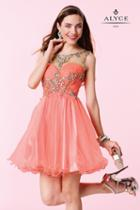 Alyce Paris Homecoming - 3674 Dress In Coral