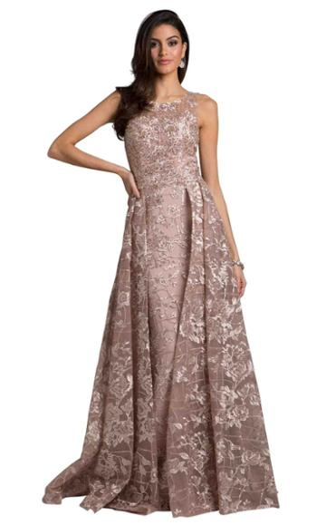 Lara Dresses - 29918 Sheer Sleeveless Pleated Evening Dress