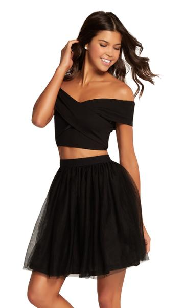 Harper And Lemon - 22111 Two Piece Off-shoulder Cocktail Dress
