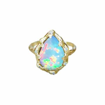 Logan Hollowell - New! Queen Water Drop Blue Opal Ring