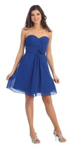 May Queen - Sophisticated Pleated Sweetheart A-line Dress Mq976