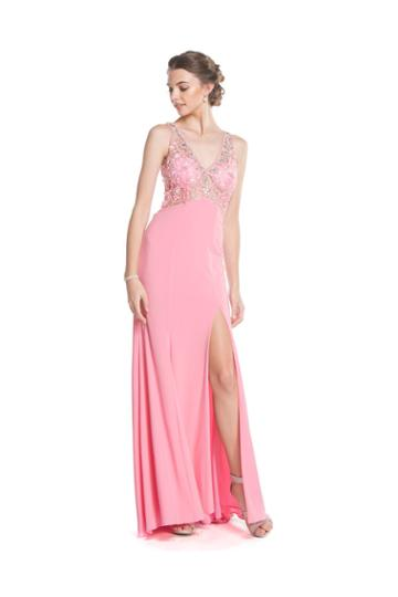 Aspeed - L1616 Beaded V-neck Evening Gown With Slit
