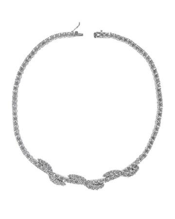 Cz By Kenneth Jay Lane - Round Cz Twist Necklace