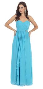 May Queen - Sophisticated Pleated Sweetheart Chiffon A-line Dress Mq895b