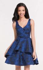 Alyce Paris Homecoming - 3743 Sleeveless V-neck A-line Dress