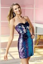 Alyce Paris Homecoming - 4368 Dress In Royal Blue Turquoise Silver