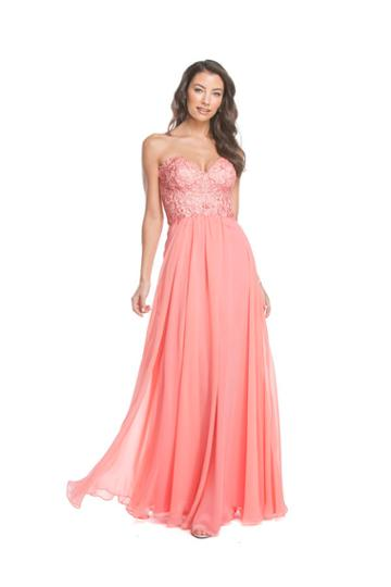 Aspeed - L1575 Embroidered Strapless A-line Evening Dress