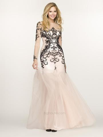 Bg Haute - G3313 Dress In Black And Nude