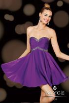 Alyce Paris Homecoming - 3609 Dress In Purple