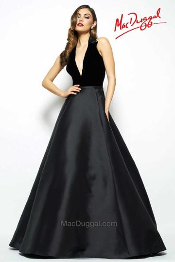 Mac Duggal Evening Gowns - 80585 Halter Gown In Black