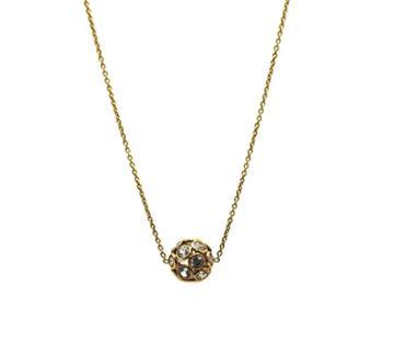 Tresor Collection - Smokey Quartz Ball Necklace In 18k Yellow Gold