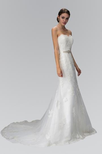 Elizabeth K - Gl1354 Appliqued Strapless Sweetheart Sheath Bridal Gown