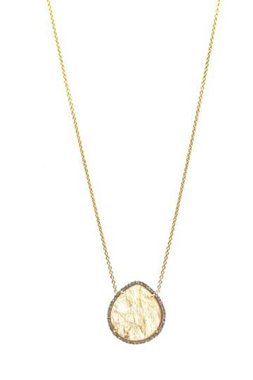 Tresor Collection - Golden Rutile & Diamond Necklace In 18k Yellow Gold