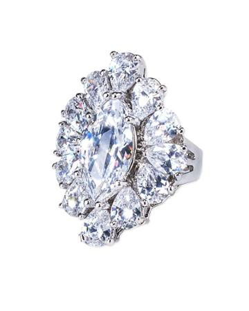 Cz By Kenneth Jay Lane - Marquise Ring