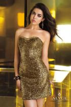 Alyce Paris Homecoming - 4342 Dress In Antique Gold
