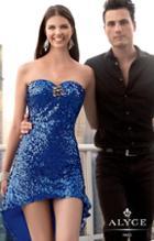 Alyce Paris Homecoming - 4307 Dress In Royal Blue