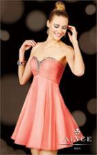 Alyce Paris - 3598 Short Dress In Pink Coral