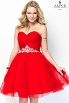 Alyce Paris - 1134 Short Dress In Red