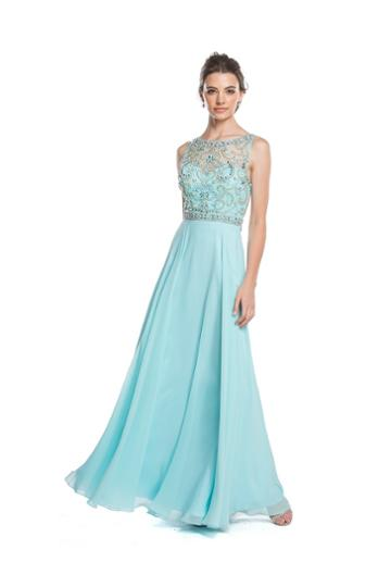 Aspeed - L1611 Embellished Sleeveless A-line Evening Dress