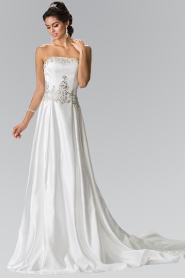 Elizabeth K - Gl2201 Strapless Jewel Embellished Bridal Dress