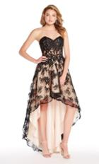 Alyce Paris - 60084 Strapless Lace Sweetheart High Low A-line Dress