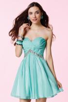 Alyce Paris - 3670 Pleated Sweetheart Chiffon A-line Dress