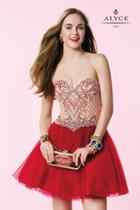Alyce Paris Homecoming - 3652 Dress In Red