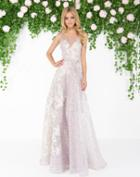 Mac Duggal - 20067d Floral Embroidered Sheer Gown