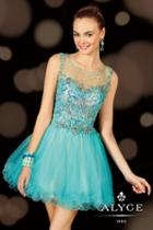 Alyce Paris Homecoming - 3621 Dress In Aqua