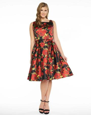 Mac Duggal Fabulouss - 77347f Rose Print Sleeveless Cocktail Dress