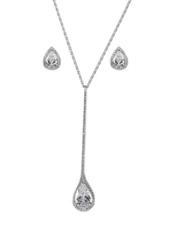 Cz By Kenneth Jay Lane - Pear Cz Matching Set