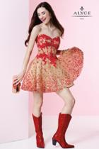 Alyce Paris Homecoming - 4432 Dress In Red Nude