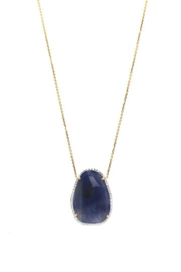 Tresor Collection - Blue Sapphire & Diamond Necklace In 18k Yellow Gold Style 2