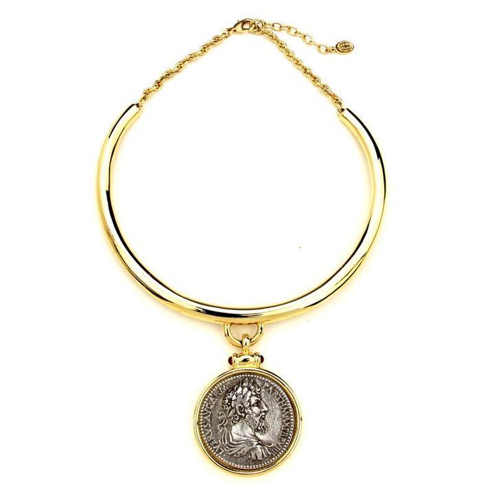 Ben-amun - Roman Coin Gold Collar Necklace