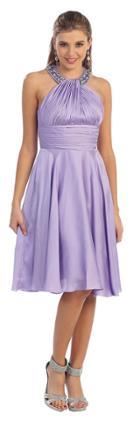 Classy Short Halter Prom Dress