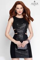 Alyce Paris - 4448 Short Dress In Black