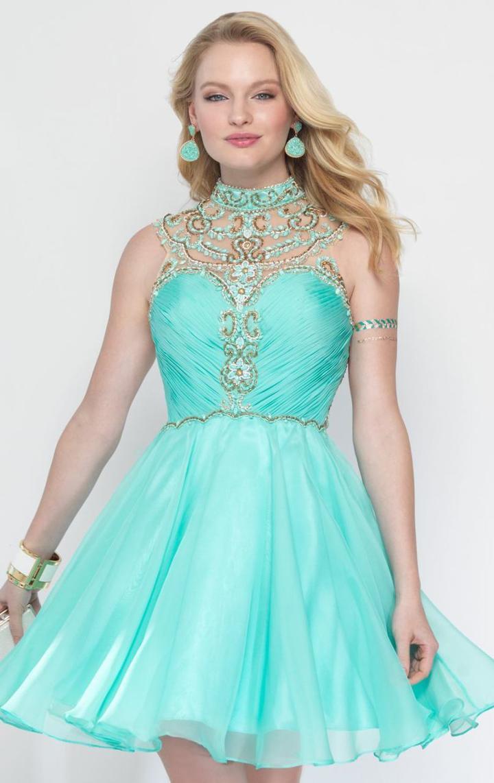 Alyce Paris Sweet 16 - 3681 High Neck Embellished Cocktail Dress
