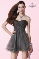 Alyce Paris Homecoming - 3649 Dress In Dark Gray