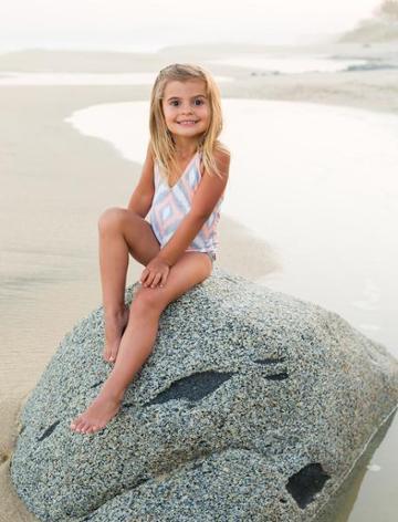 Nicolita Swimwear - Nicolita Mini In Baby Swimwear In Coral Diamond