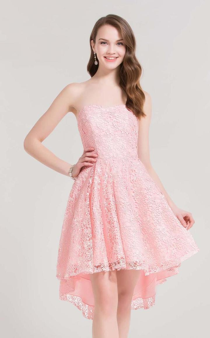 Alyce Paris - 3696 Lacy Semi Sweetheart Cocktail Dress