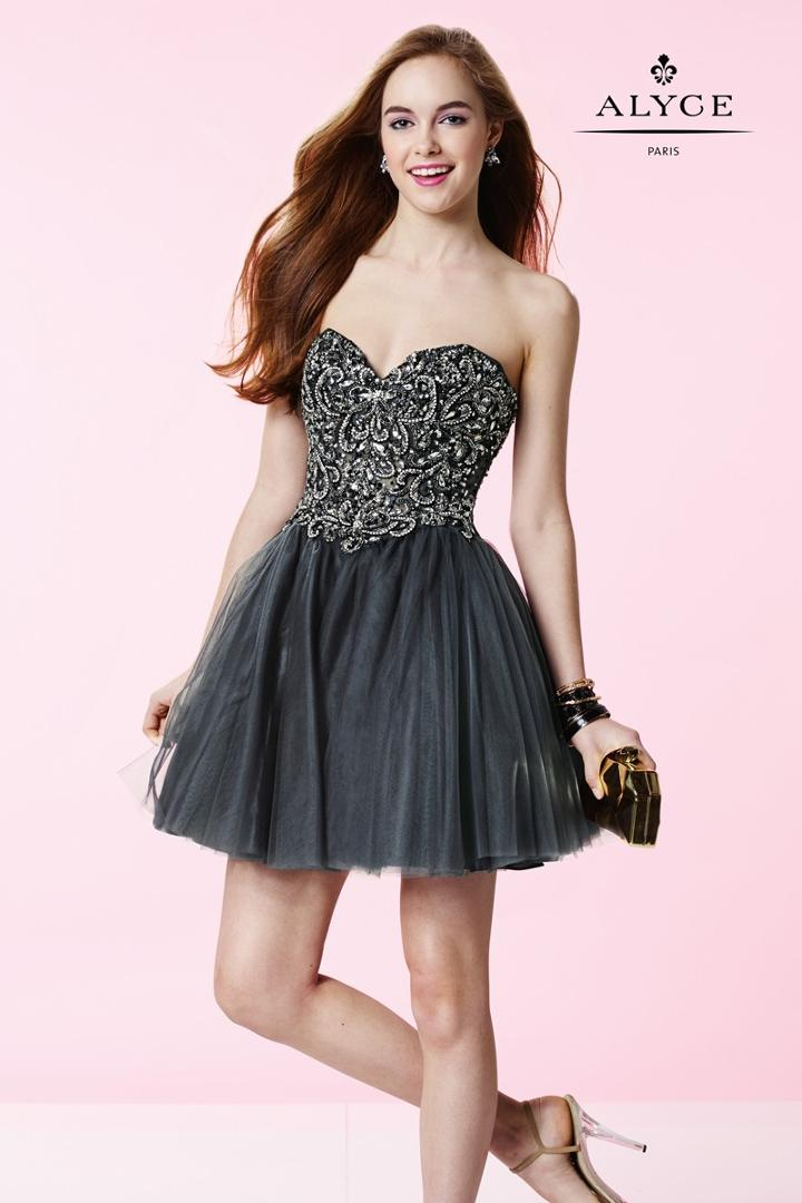 Alyce Paris Homecoming - 3673 Dress In Charcoal